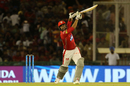 Karun Nair lofts one over covers, Kings XI Punjab v Sunrisers Hyderabad, IPL 2018, Mohali, April 19, 2018
