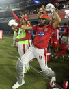 Yuvraj Singh unleashed a few Gangnam Style-esque dance moves to celebrate Chris Gayle's ton, Kings XI Punjab v Sunrisers Hyderabad, IPL 2018, Mohali, April 19, 2018