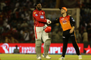 Kane Williamson congratulates Chris Gayle on his century, Kings XI Punjab v Sunrisers Hyderabad, IPL 2018, Mohali, April 19, 2018