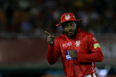 Chris Gayle engages the spectators near the boundary rope, Kings XI Punjab v Sunrisers Hyderabad, IPL 2018, Mohali, April 19, 2018