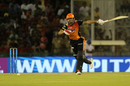 Manish Pandey tries to go hard through the off side, Kings XI Punjab v Sunrisers Hyderabad, IPL 2018, Mohali, April 19, 2018