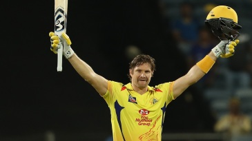 Shane Watson struck his fourth T20 hundred