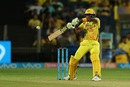 Dwayne Bravo punches through the off side, Chennai Super Kings v Rajasthan Royals, IPL 2018, Pune, April 20, 2018