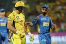 Shane Watson is congratulated by his former team-mate Ajinkya Rahane, Chennai Super Kings v Rajasthan Royals, IPL 2018, Pune, April 20, 2018