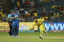 Shardul Thakur sprinted to take a return catch, Chennai Super Kings v Rajasthan Royals, IPL 2018, Pune, April 20, 2018