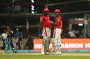 Chris Gayle and KL Rahul have a chat pitch side, Kolkata Knight Riders v Kings XI Punjab, IPL 2018, Kolkata, April 21, 2018