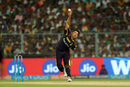 Piyush Chawla in his delivery stride, Kolkata Knight Riders v Kings XI Punjab, IPL 2018, Kolkata, April 21, 2018