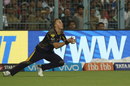 Tom Curran settles underneath a catch near the boundary rope, Kolkata Knight Riders v Kings XI Punjab, IPL 2018, Kolkata, April 21, 2018
