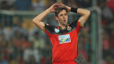Chris Woakes reacts in the field