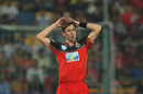 Chris Woakes reacts in the field, Royal Challengers Bangalore v Delhi Daredevils, IPL 2018, Bengaluru, April 21, 2018