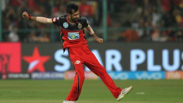 Yuzvendra Chahal celebrates a wicket