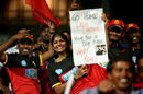 A few Virat Kohli fans in the M. Chinnaswamy stands had a message for Delhi Daredevils, Royal Challengers Bangalore v Delhi Daredevils, IPL 2018, Bengaluru, April 21, 2018