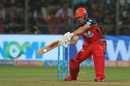 AB de Villiers flays one through the off side, Royal Challengers Bangalore v Delhi Daredevils, IPL 2018, Bengaluru, April 21, 2018