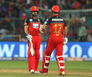 Virat Kohli and AB de Villiers strung a fifty stand, Royal Challengers Bangalore v Delhi Daredevils, IPL 2018, Bengaluru, April 21, 2018