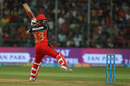 Virat Kohli plays one awkwardly, Royal Challengers Bangalore v Delhi Daredevils, IPL 2018, Bengaluru, April 21, 2018