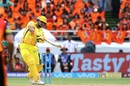 Suresh Raina carts one over the off side, Sunrisers Hyderabad v Chennai Super Kings, IPL 2018, Hyderabad, April 22, 2018