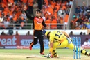 Rashid Khan had the returning Faf du Plessis stumped, Sunrisers Hyderabad v Chennai Super Kings, IPL 2018, Hyderabad, April 22, 2018