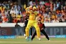 Suresh Raina whips one into the leg side, Sunrisers Hyderabad v Chennai Super Kings, IPL 2018, Hyderabad, April 22, 2018