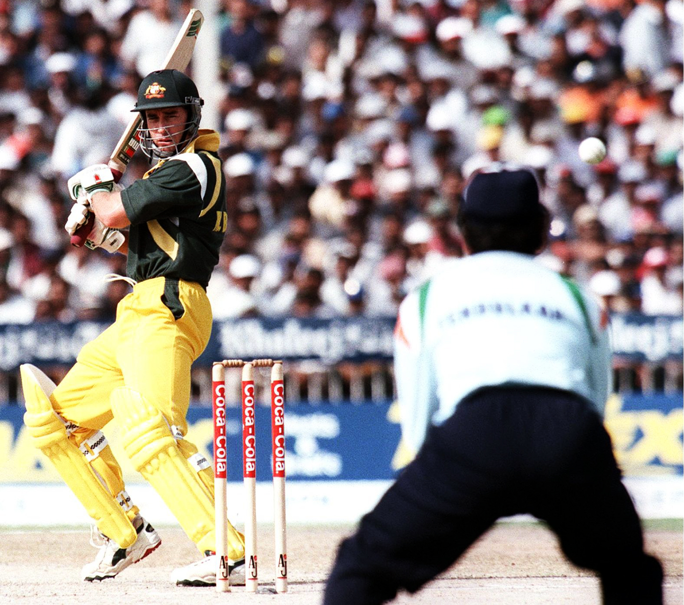 Michael Bevan made 101 not out in the last league game, which India lost. But they still managed to qualify for the tri-series final