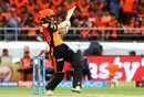 Kane Williamson rocks onto a pull shot, Sunrisers Hyderabad v Chennai Super Kings, IPL 2018, Hyderabad, April 22, 2018
