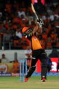Yusuf Pathan muscles one down the ground, Sunrisers Hyderabad v Chennai Super Kings, IPL 2018, Hyderabad, April 22, 2018