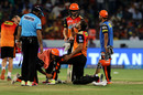 Yusuf Pathan got some treatment while batting, Sunrisers Hyderabad v Chennai Super Kings, IPL 2018, Hyderabad, April 22, 2018