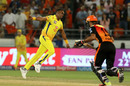 Dwayne Bravo bowled a flurry of yorkers in the death overs, Sunrisers Hyderabad v Chennai Super Kings, IPL 2018, Hyderabad, April 22, 2018