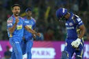 Dhawal Kulkarni dismissed Evin Lewis first ball, Rajasthan Royals v Mumbai Indians, IPL 2018, Jaipur, April 22, 2018