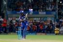 Suryakumar Yadav whips one into the leg side, Rajasthan Royals v Mumbai Indians, IPL 2018, Jaipur, April 22, 2018