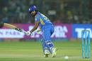 Rahul Tripathi plays one towards third man, Rajasthan Royals v Mumbai Indians, IPL 2018, Jaipur, April 22, 2018