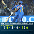 Gowtham's 11-ball cameo turned the chase around for Royals