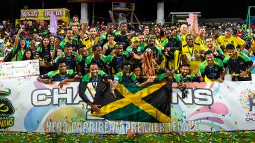 Jamaica Tallawahs enjoy their moment of triumph