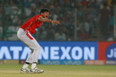 Ankit Rajpoot appeals for a wicket, Delhi Daredevils v Kings XI Punjab, IPL 2018, Delhi, April 23, 2018
