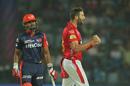 Andrew Tye is chuffed upon snaring a wicket, Delhi Daredevils v Kings XI Punjab, IPL 2018, Delhi, April 23, 2018