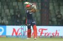Shreyas Iyer lofts one over the covers, Delhi Daredevils v Kings XI Punjab, IPL 2018, Delhi, April 23, 2018