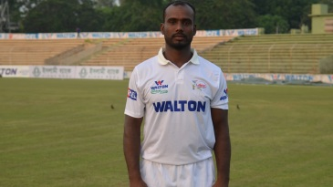 Salauddin Sakil during his Central Zone debut