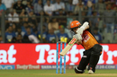 Kane Williamson brought out a copybook cover drive, Mumbai Indians v Sunrisers Hyderabad, IPL, April 24, 2018