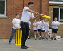 Alastair Cook plays cricket with schoolkids during a Chance to Shine / Yorkshire Tea event, Tunbridge Wells, April 24, 2018