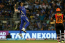 Jasprit Bumrah leaps to celebrate Rashid Khan's wicket, Mumbai Indians v Sunrisers Hyderabad, IPL, April 24, 2018