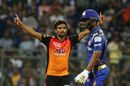 Sandeep Sharma hooped and swung around the new ball, Mumbai Indians v Sunrisers Hyderabad, IPL, April 24, 2018