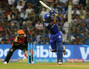 Suryakumar Yadav is all balance and poise as he lays into a flick, Mumbai Indians v Sunrisers Hyderabad, IPL, April 24, 2018