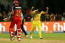 Agony and ecstasy: Shardul Thakur celebrates the wicket of Virat Kohli, Royal Challengers Bangalore v Chennai Super Kings, IPL, April 25, 2018