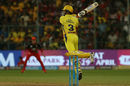 Suresh Raina plays an agricultural slap over point, Royal Challengers Bangalore v Chennai Super Kings, IPL, April 25, 2018