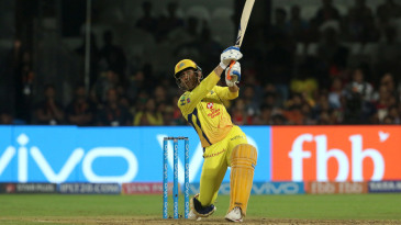 MS Dhoni goes big on the off side