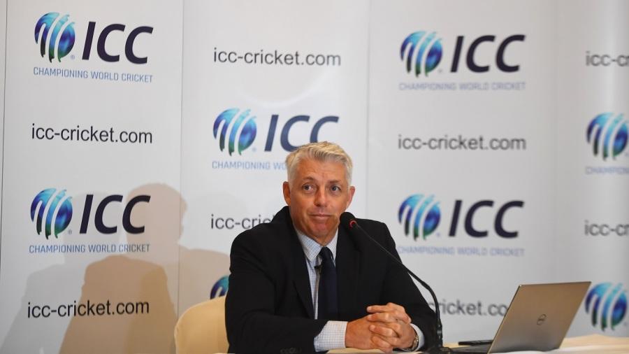 ICC CEO David Richardson addresses a press conference