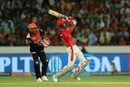 KL Rahul goes for the big one, Sunrisers Hyderabad v Kings XI Punjab, IPL 2018, Hyderabad, April 26, 2018
