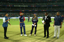 Shreyas Iyer tosses the coin for the first time in his IPL career, Delhi Daredevils v Kolkata Knight Riders, IPL 2018, Delhi, April 27, 2018