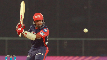 Prithvi Shaw winds up against a short ball