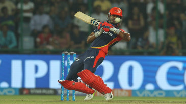 Shreyas Iyer gets in position to ramp one to third man