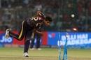 Shivam Mavi nails his target, Delhi Daredevils v Kolkata Knight Riders, IPL 2018, Delhi, April 27, 2018